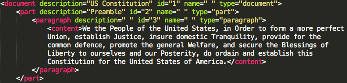 Constitution in XML